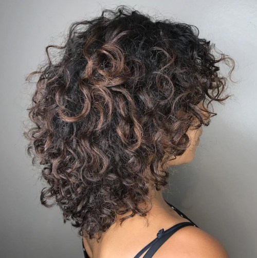 Curly Layered Style