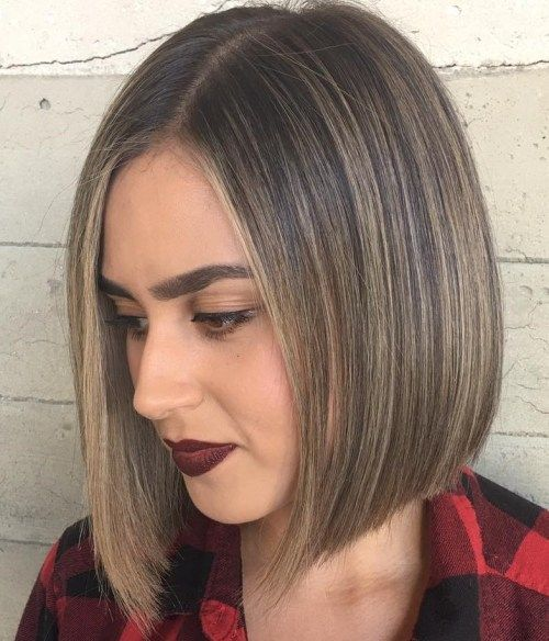 9. Perfectly Symmetrical Straight Bob-Cut With Layers